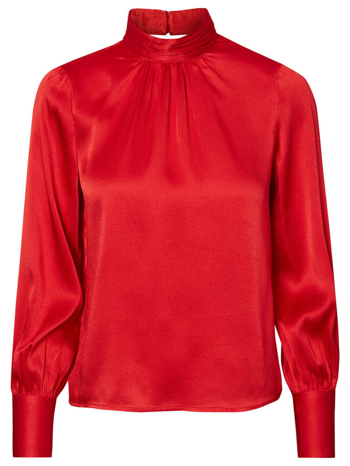 FÉMININE TOP À MANCHES LONGUES, Racing Red, large