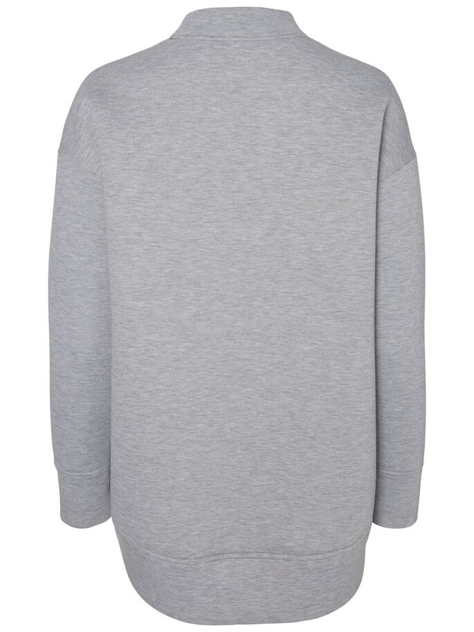 LONG SWEATSHIRT, Light Grey Melange, large