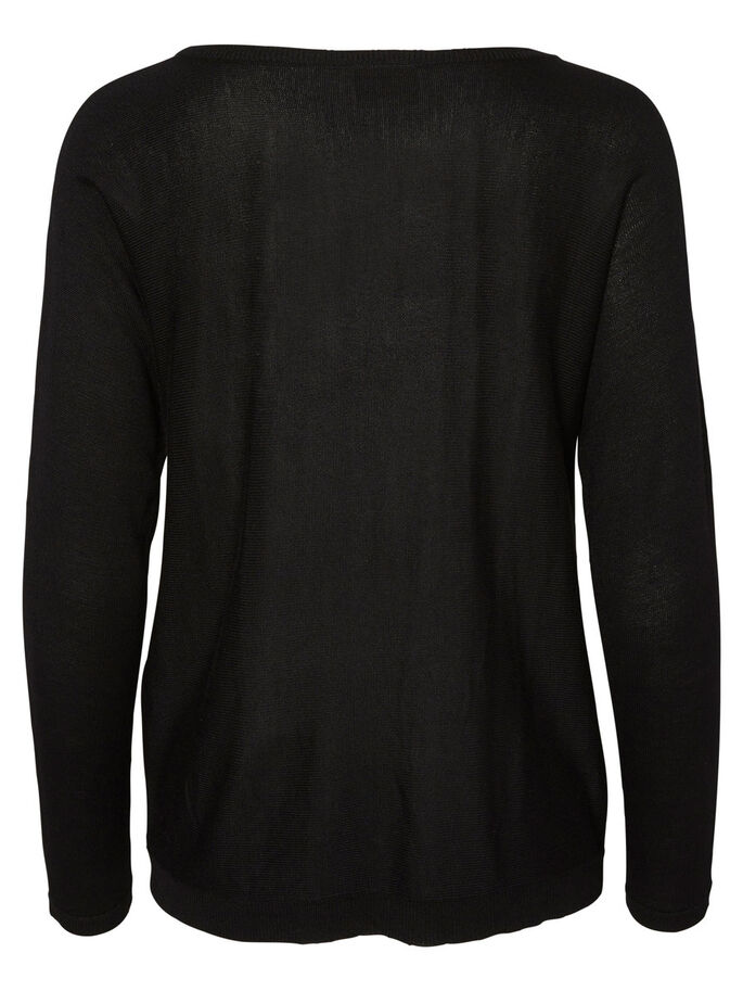 LONG SLEEVED PULLOVER, Black, large
