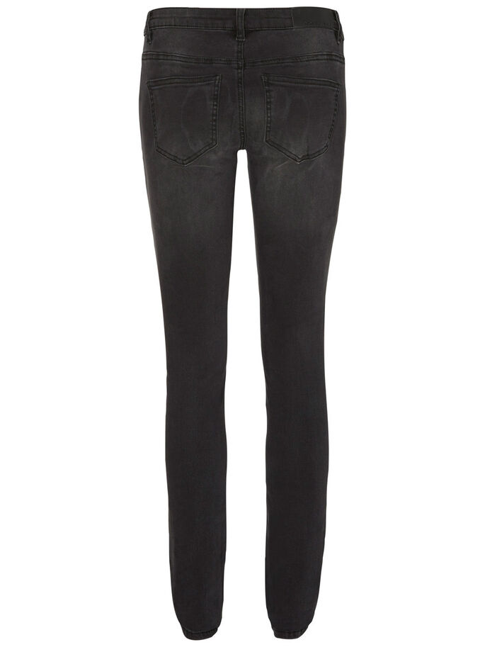 EVE LW SKINNY FIT JEANS, Black, large