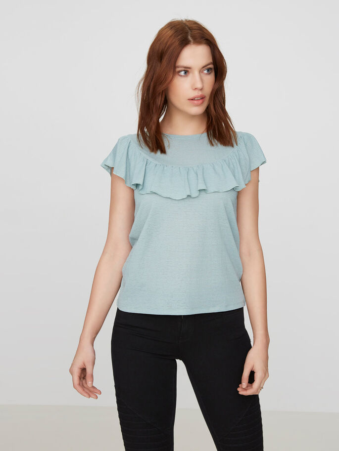 DETAILED SLEEVELESS TOP, Blue Surf, large