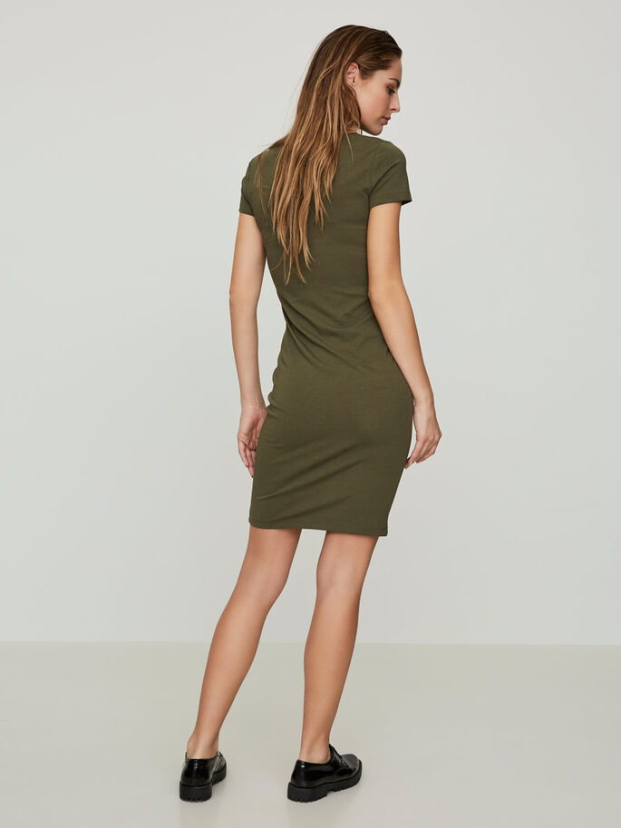 TIGHT FIT JURK MET KORTE MOUWEN, Ivy Green, large