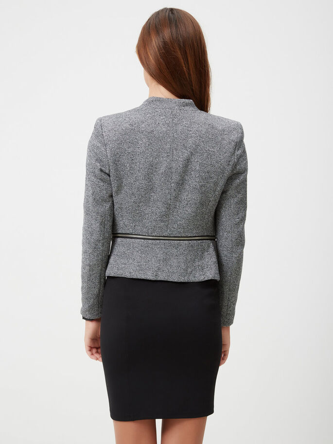 JERSEY BLAZER, Dark Grey Melange, large