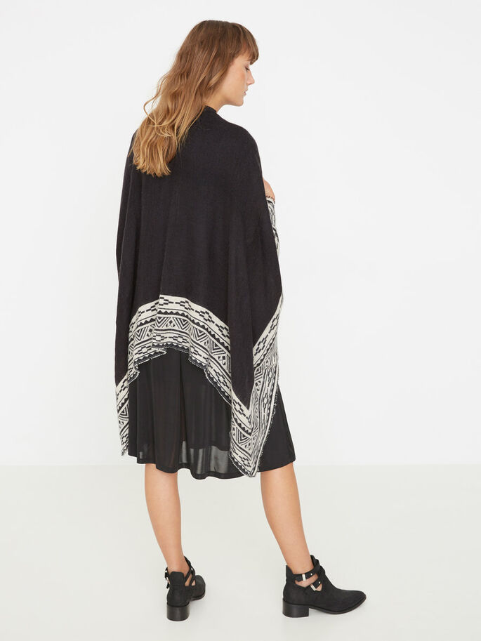 MAILLE PONCHO, Black, large