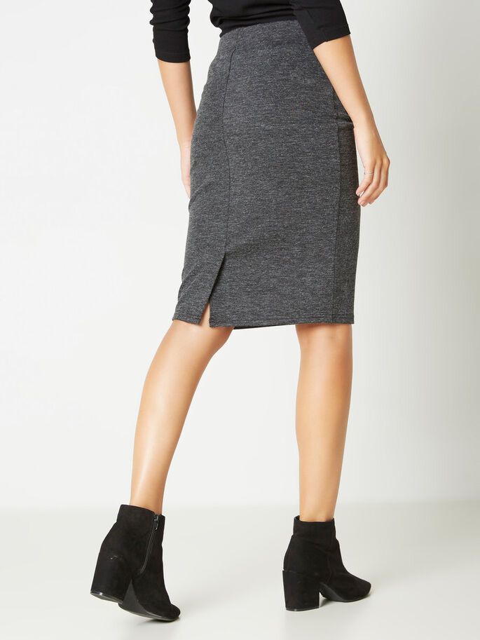 TIGHT FIT SKIRT, Dark Grey Melange, large