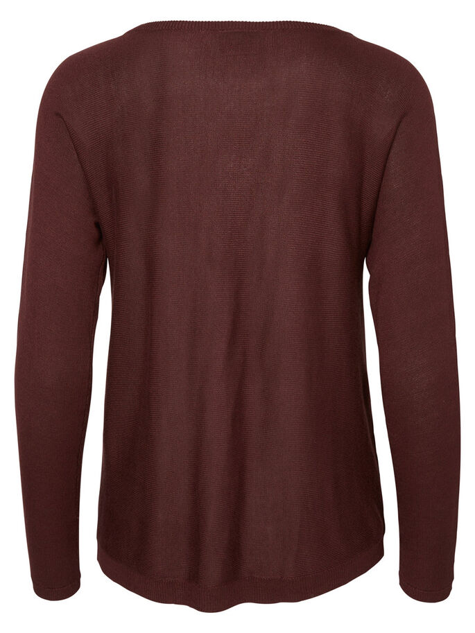 MANCHES LONGUES PULLOVER, Decadent Chocolate, large