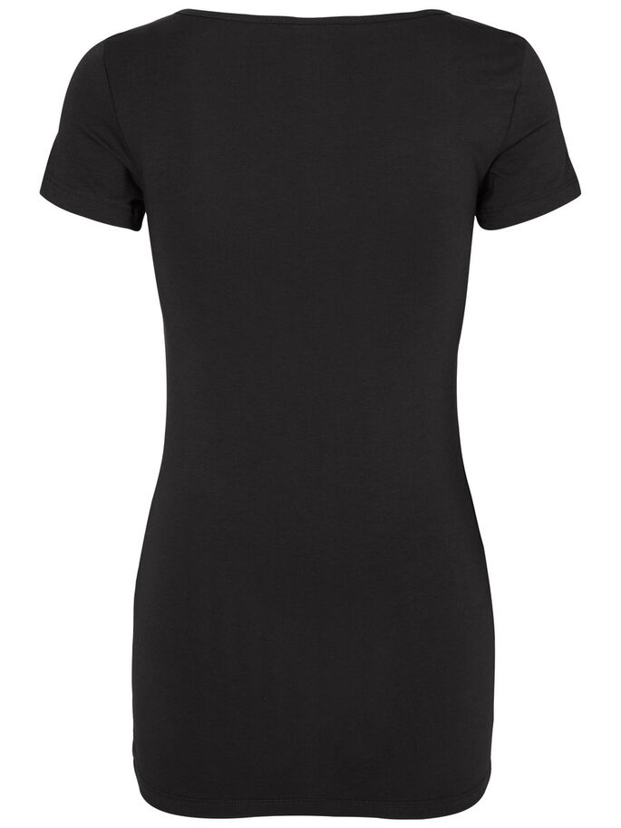 2-PAK BASIC TOP MET KORTE MOUWEN, Black, large