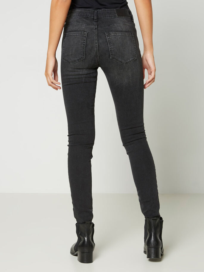 LUCY NW SKINNY FIT JEANS, Black, large