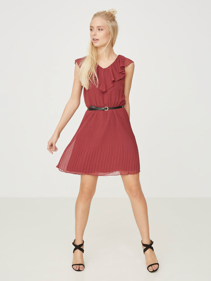 SLEEVESS SHORT DRESS, Zinfandel, large