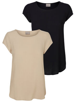 2-PACK SOFT SHORT SLEEVED TOP