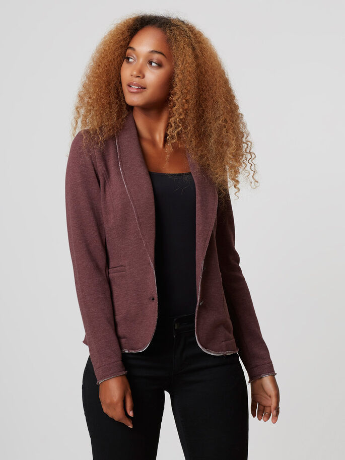 LONG SLEEVED BLAZER, Decadent Chocolate, large