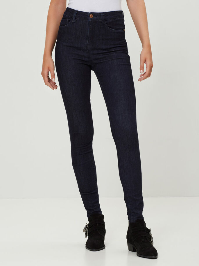 LEXI HW SKINNY JEANS, Dark Blue Denim, large