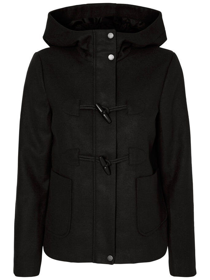 SHORT JACKET, Black, large