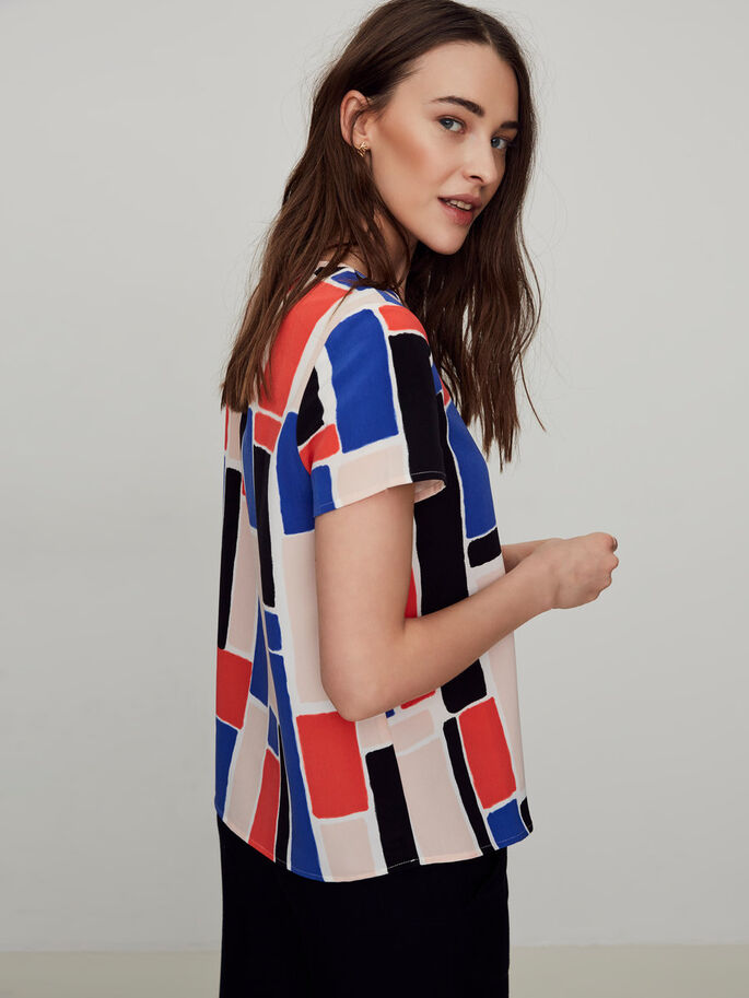 GRAPHIC SHORT SLEEVED TOP, Snow White, large