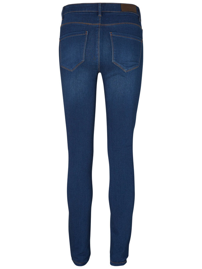 SEVEN NW SKINNY FIT JEANS, Dark Blue Denim, large