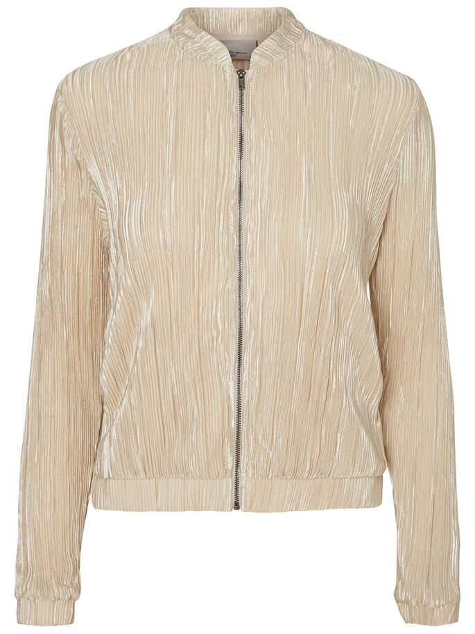 BOMBER VESTE, Pale Gold, large