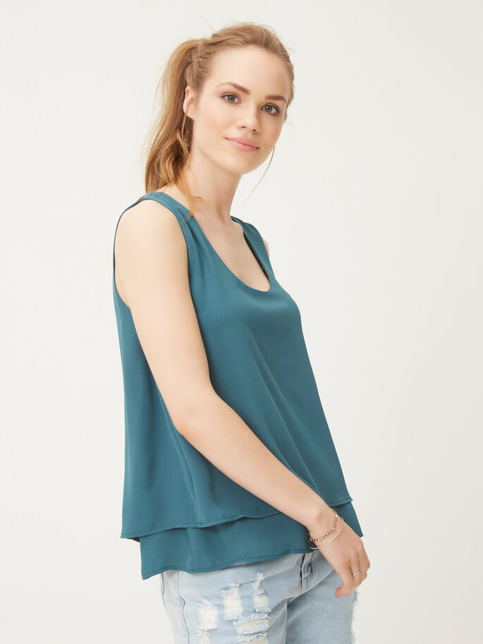FEMININE SLEEVELESS TOP, Balsam, large