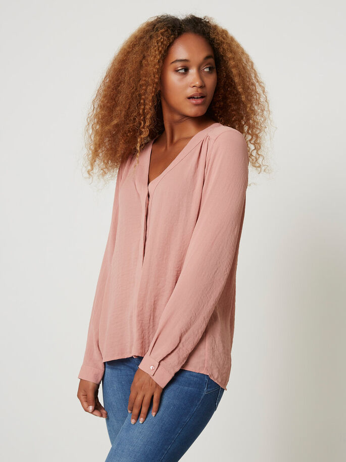 LONG SLEEVED SHIRT, Ash Rose, large