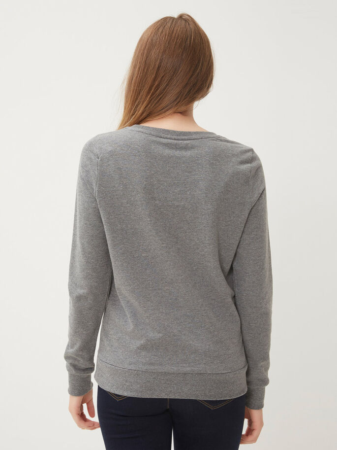 PRINTED SWEATSHIRT, Medium Grey Melange, large