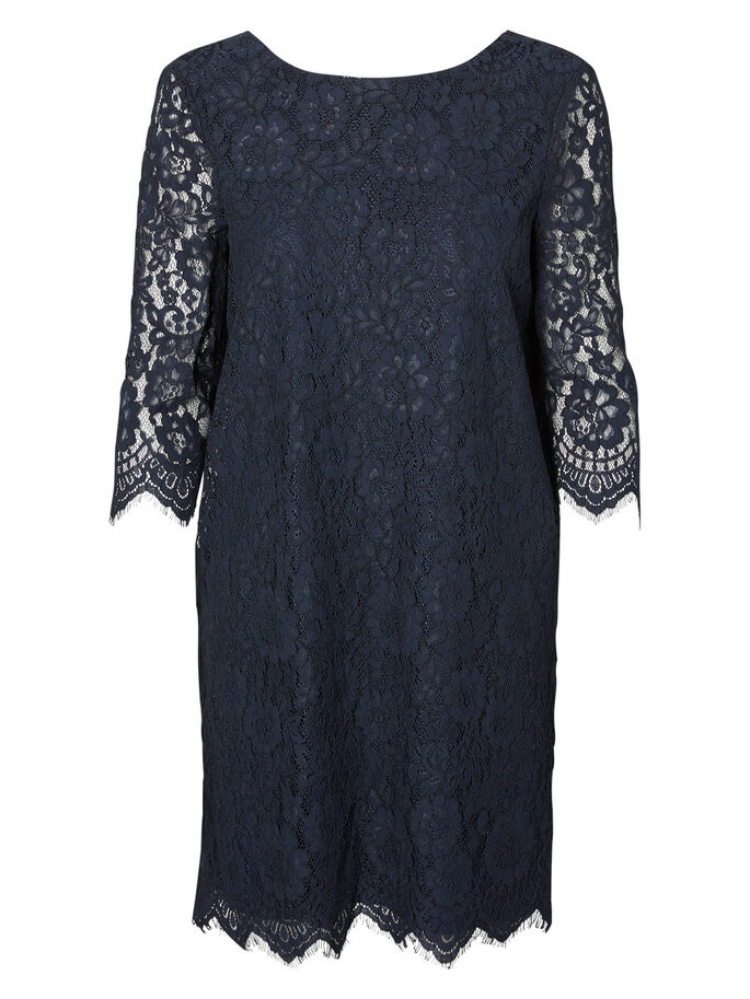 LACE SHORT DRESS, Navy Blazer, large