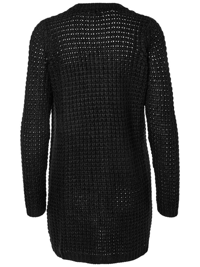 LANGÄRMELIGER STRICK-CARDIGAN, Black, large