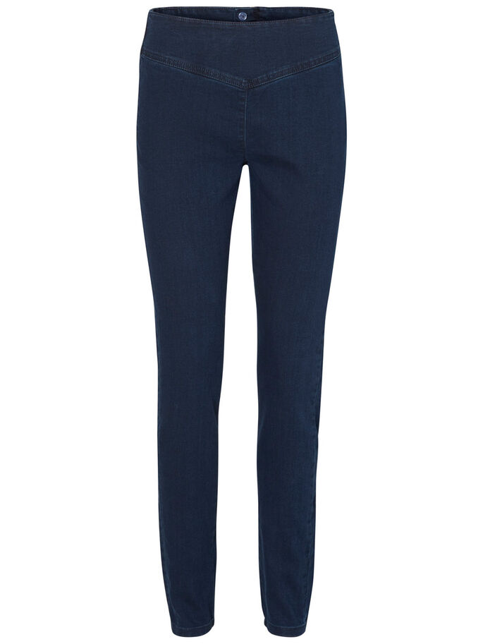 FLY PARIS HW JEGGINGS, Dark Blue Denim, large