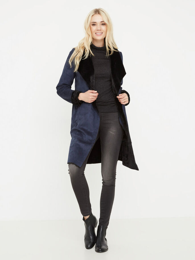 WINTER COAT, Navy Blazer, large