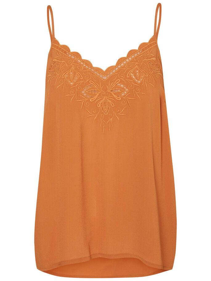 LACE SINGLET, Adobe, large