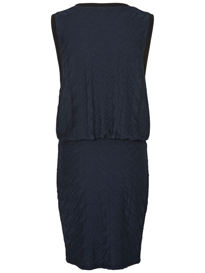 SLEEVELESS SHORT DRESS, Navy Blazer, large