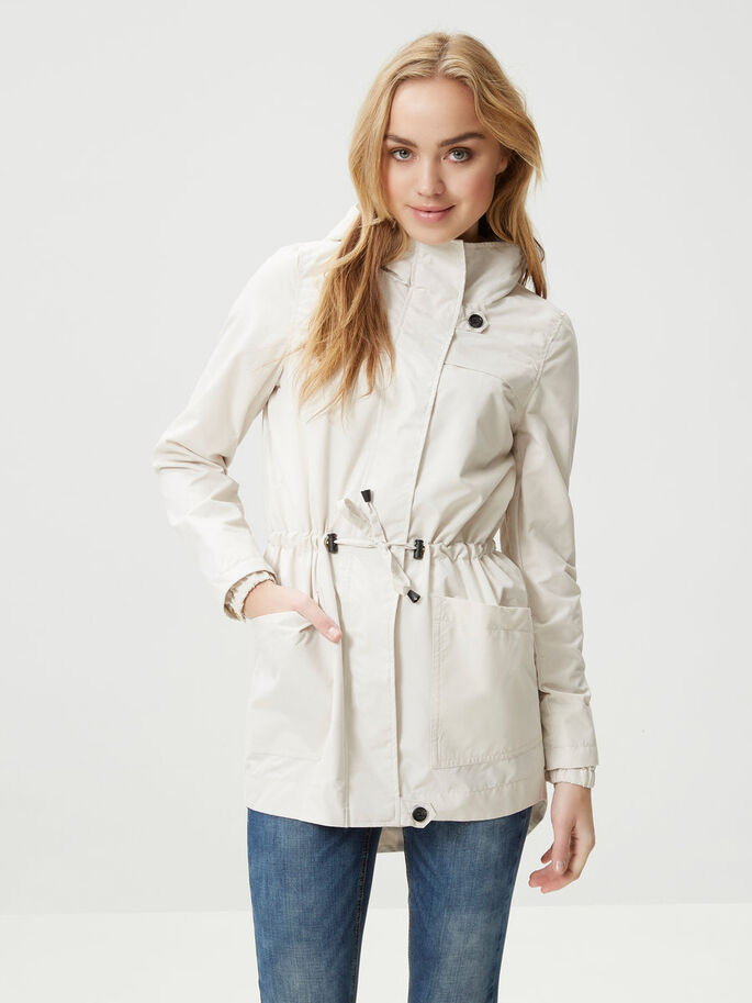 LONG PARKA COAT, Moonbeam, large