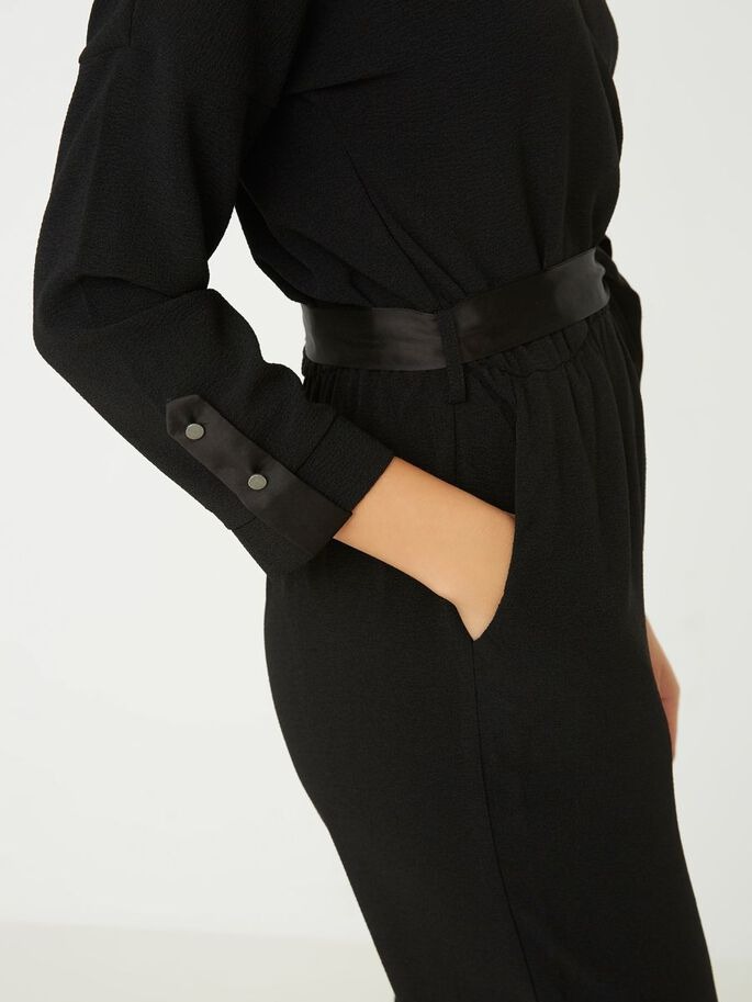 LANGÄRMELIGER JUMPSUIT, Black, large