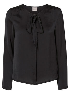 BOW DETAILED LONG SLEEVED TOP