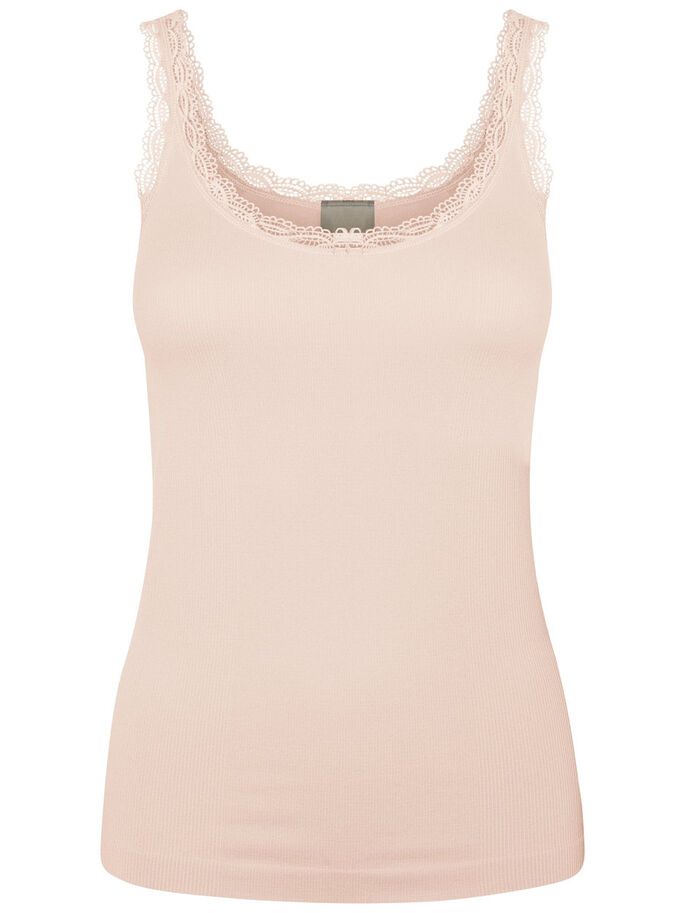 LACE SINGLET, Peach Whip, large