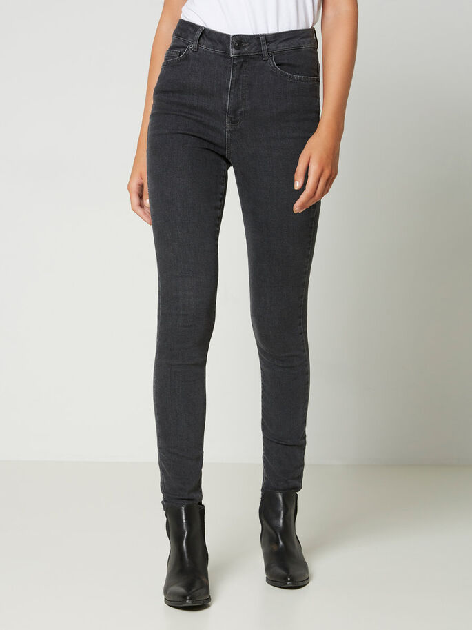 NINE HW SKINNY FIT JEANS, Dark Grey Denim, large