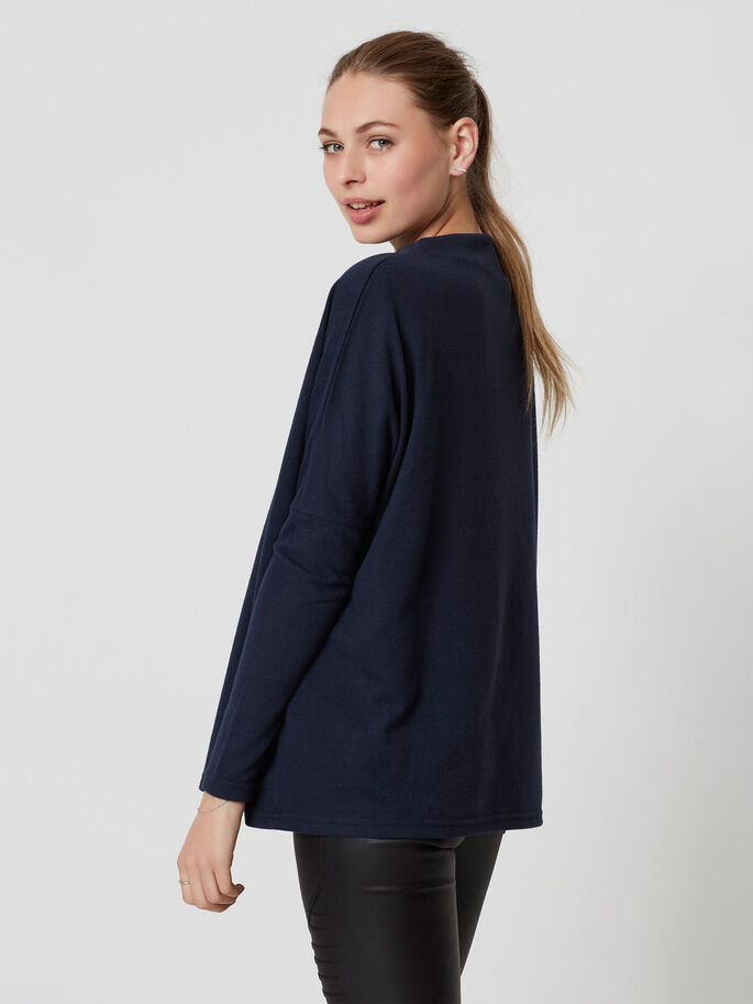 LONG SLEEVED PULLOVER, Navy Blazer, large