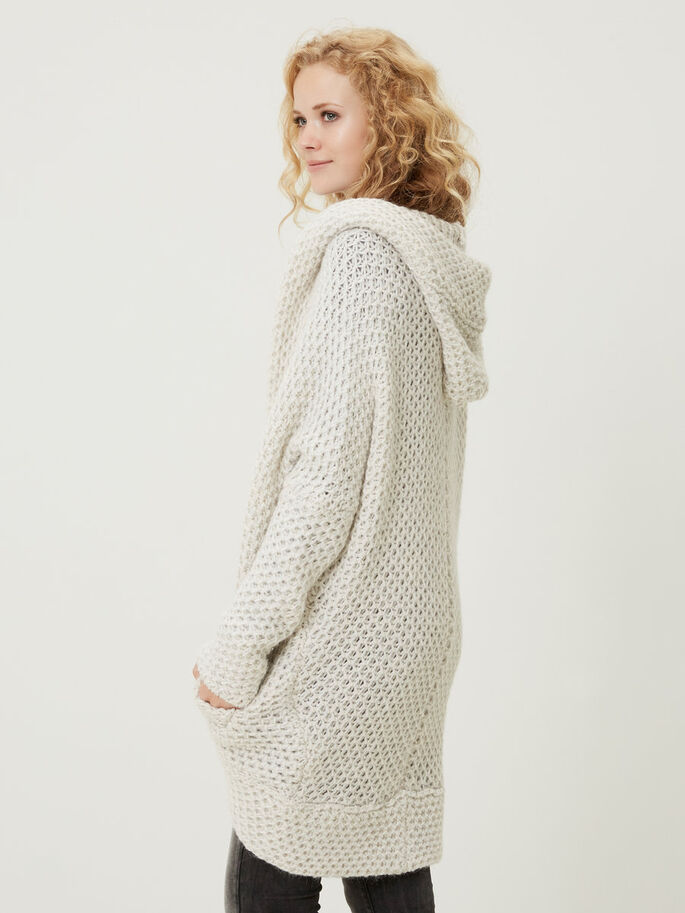 OVERSIZED NEULETAKKI, Light Grey Melange, large