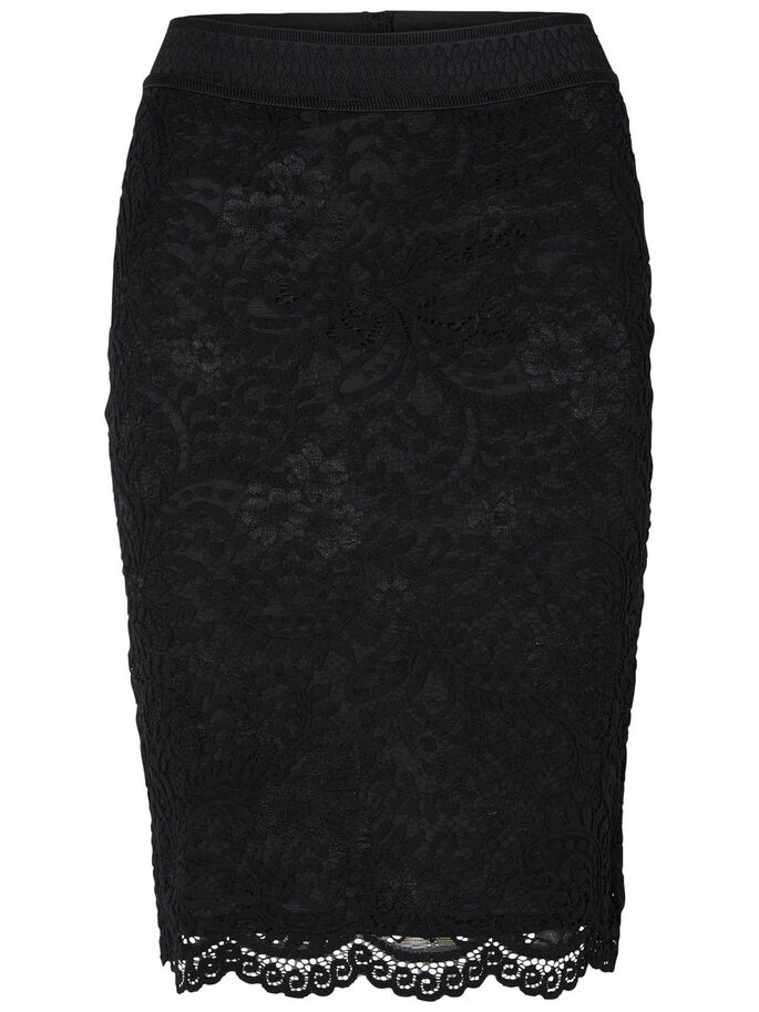 LACE SKIRT, Black, large