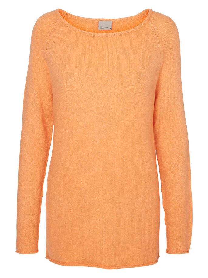 LONG SLEEVED KNITTED PULLOVER, Canyon Sunset, large