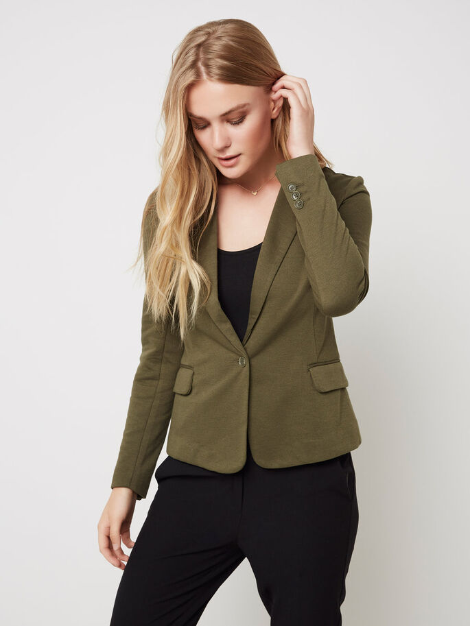 MANCHES LONGUES BLAZER, Ivy Green, large