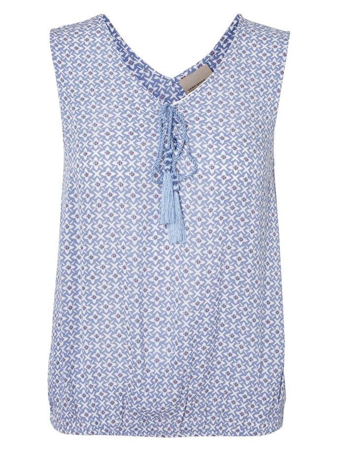 PRINT MOUWLOZE TOP, Colony Blue, large