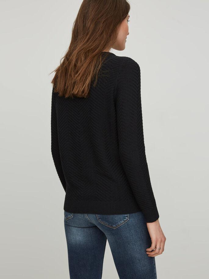 LÄSSIGER STRICKPULLOVER, Black Beauty, large