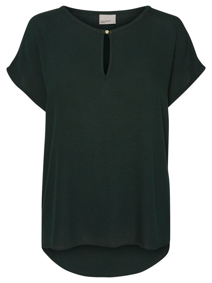 CASUAL SHORT SLEEVED BLOUSE, Scarab, large