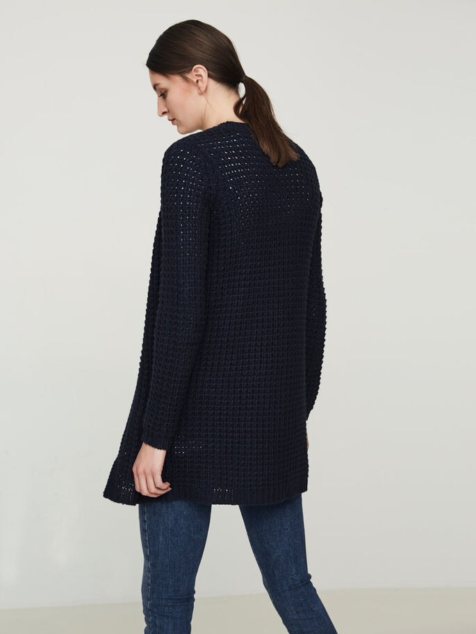 MANCHES LONGUES CARDIGAN EN MAILLE, Navy Blazer, large