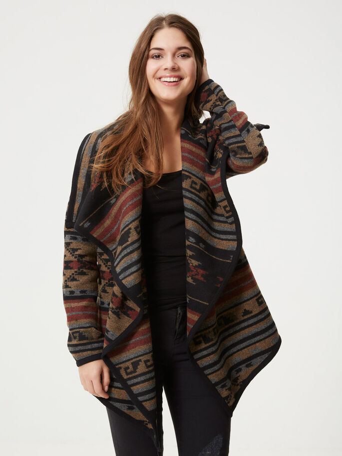 DRAPED JACKET, Tobacco Brown, large