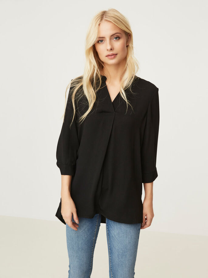 LANG SKJORTE, Black, large