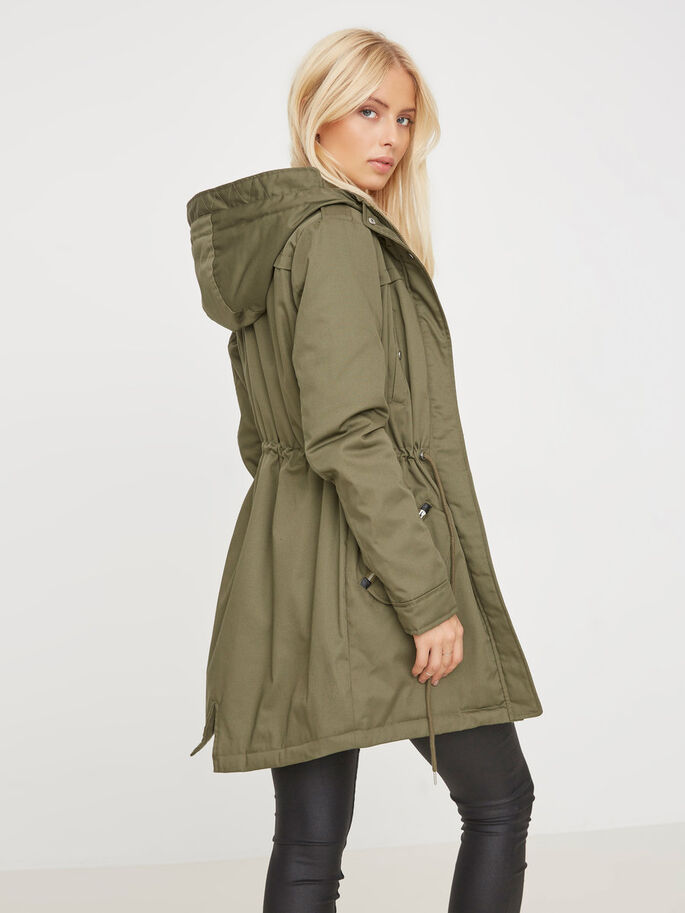 TRANSITIONAL PARKA COAT, Ivy Green, large
