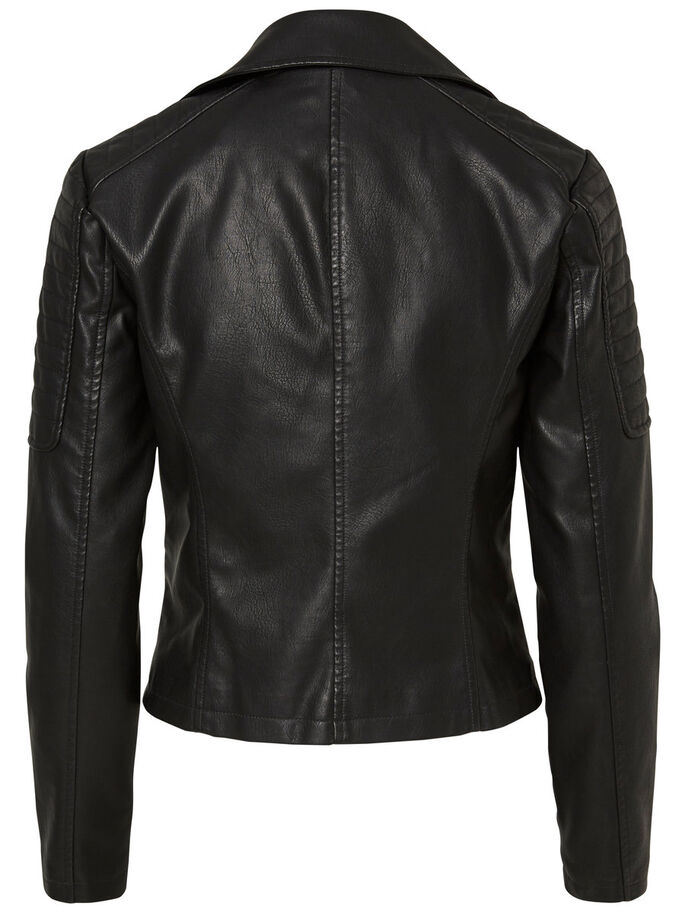 BIKERINSPIRERAD JACKA, Black, large