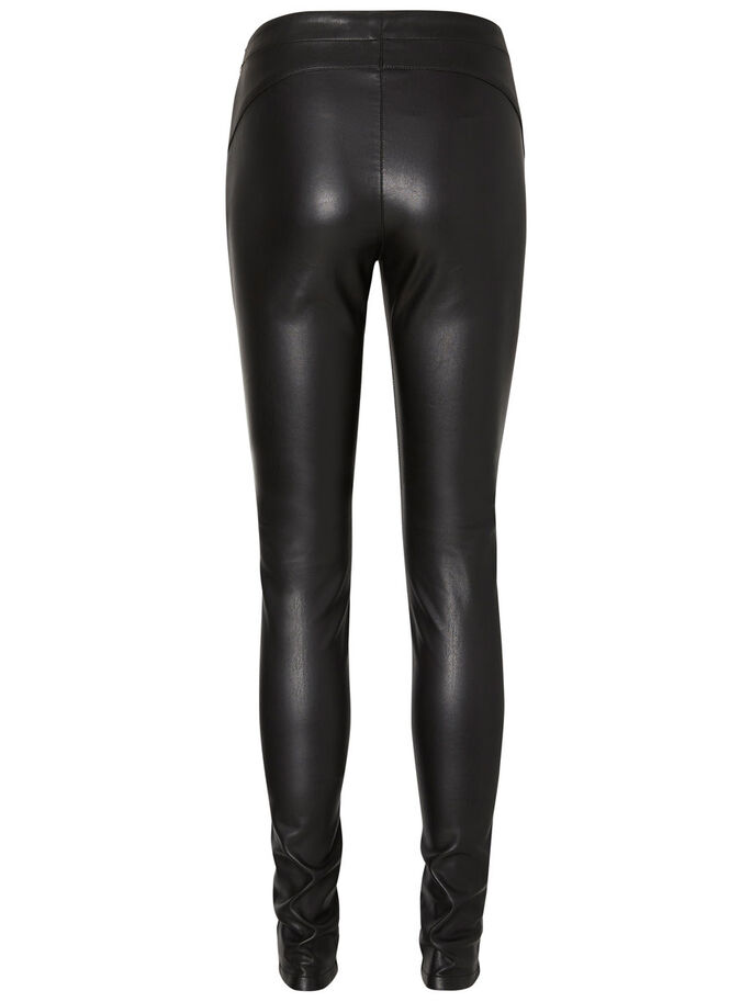 NW KUNSTLEDER- LEGGINGS, Black, large