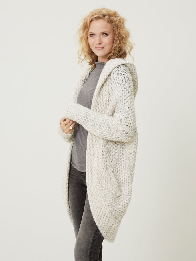 OVERSIZED KNITTED CARDIGAN, Snow White, large