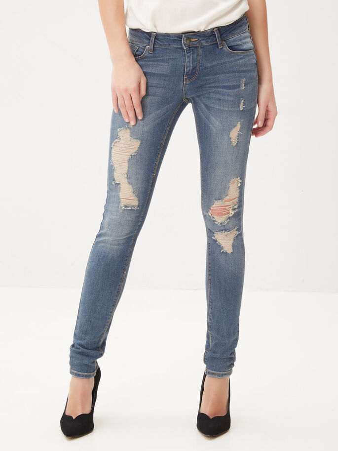 FIVE LW SKINNY JEANS, Medium Blue Denim, large
